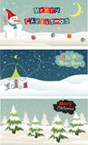 Set of Christmas banner. Vector illustrator Royalty Free Stock Photography