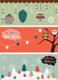 Set of Christmas banner Stock Photos