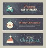 Set of christmas banner. Vector illustration. Eps 10 Royalty Free Stock Photo