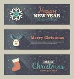 Set of christmas banner. Vector illustration. Eps 10 Stock Photography