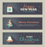 Set of christmas banner. Vector illustration. Eps 10 Royalty Free Stock Photo