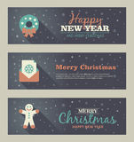 Set of christmas banner. Vector illustration. Eps 10 Stock Photography