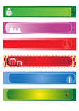 Set christmas banners Stock Images