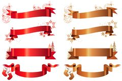 Set of  Christmas banners Stock Photo