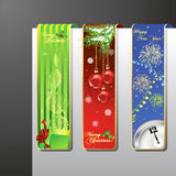 A set of christmas banners. A set of Merry Christmas and New Year banners Stock Photography
