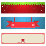 Set of Christmas banners. Set of Christmas banner designs Royalty Free Stock Images