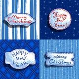 Set of christmas banners Stock Image