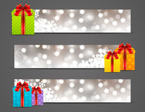 Set of Christmas banners Royalty Free Stock Image