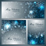 Set of christmas banners with snowflakes Stock Photo