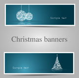 Set of christmas banners-vector Royalty Free Stock Photos