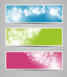 Set of christmas banners- vector Stock Photos