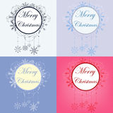 Set of christmas banners Stock Images