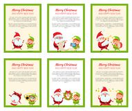 Set of Christmas Banners Vector Illustrations Royalty Free Stock Photography