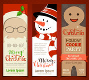Set of Christmas banners. Royalty Free Stock Photo