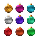 Set of christmas bauble. On white background. Vector illustration Royalty Free Stock Photos
