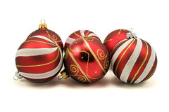 Set of christmas baubles Stock Images