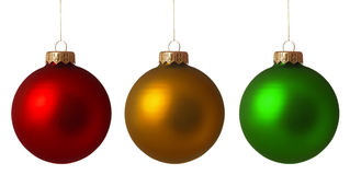 Set Christmas baubles. Isolated on white background royalty free stock images
