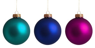 Set Christmas baubles. Isolated on white background royalty free stock photos