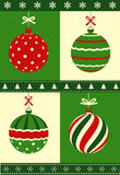 Set of Christmas baubles. Set of decorated Christmas baubles Royalty Free Stock Photos
