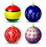 Set of christmas baubles Stock Image