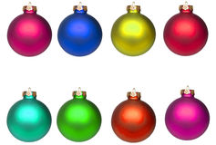 Set Christmas baubles isolated. On white royalty free stock images