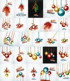 Set of Christmas baubles, New Year Concepts Stock Image
