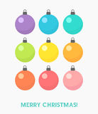 Set of Christmas baubles Stock Photography
