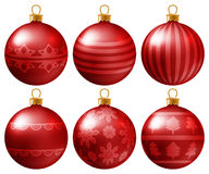 Set of Christmas baubles Royalty Free Stock Image