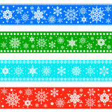 Set of Christmas borders Royalty Free Stock Photos