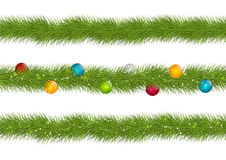 Set of Christmas borders Royalty Free Stock Photography