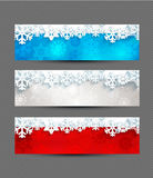 Set of Christmas bright banners. Royalty Free Stock Photos