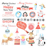 Set Christmas Royalty Free Stock Image