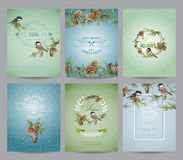 Set of Christmas Brochures and Cards Royalty Free Stock Image