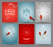 Set of Christmas Brochures and Cards royalty free illustration
