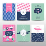 Set of Christmas Brochures and Cards Stock Image