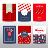 Set of Christmas Brochures and Cards Stock Images