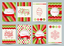 Set of christmas brochures templates. Stock Images