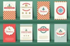 Set of  Christmas brochures  Stock Image