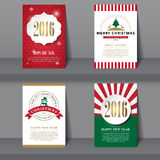 Set of  Christmas brochures in vintage style Stock Photos