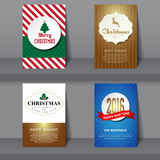 Set of  Christmas brochures in vintage style Royalty Free Stock Image