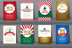 Set of  Christmas brochures in vintage style Royalty Free Stock Photos
