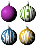 Set of Christmas bulbs Royalty Free Stock Image