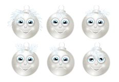 Set of christmas bulbs Stock Images