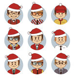 Set of Christmas business characters Royalty Free Stock Photography