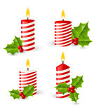 Set of Christmas candles Stock Photo