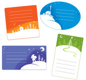 Set of Christmas cards Stock Image