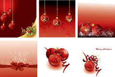 Set of Christmas cards Royalty Free Stock Photo