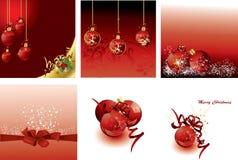 Set of Christmas cards. Illustration background Royalty Free Stock Photo