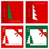 Set of Christmas cards Stock Photo
