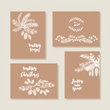 Set of christmas cards16 Royalty Free Stock Image